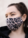 Face Masks - 2 pack Black/Leopard