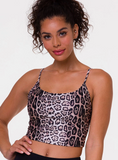 Belle Cami Crop Top - Leopard