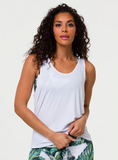 Slit Back Tank White