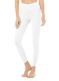 High Waist Airbrush Legging - White