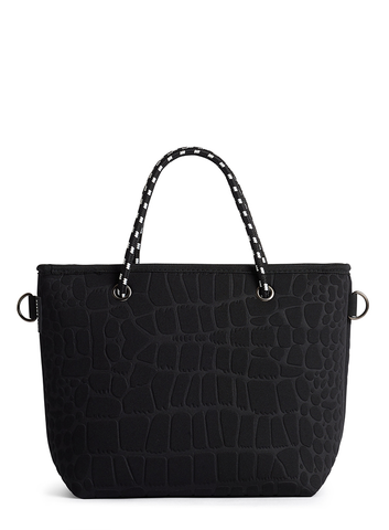 The Pebbles Bag - Black Croc