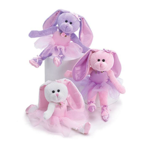 "10"" Plush Ballerina Bunnies"