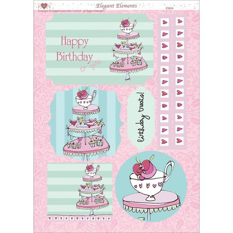 "3D Die-Cut Decoupage Sheet 8.3""X11.69""-Women's Cake"