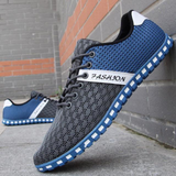 Mens Breathable Casual Lace Up Two Tone Shoes