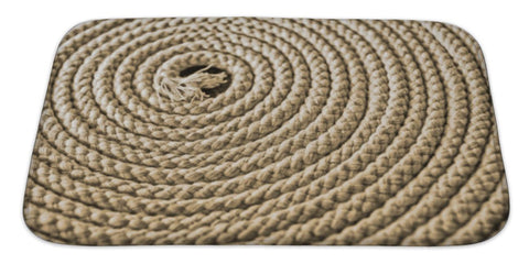 "Image Of Nautical Rope In Spiral Bath Mat, Microfiber, Foam With Non Skid Backing, 34""x21"", GN2220892"