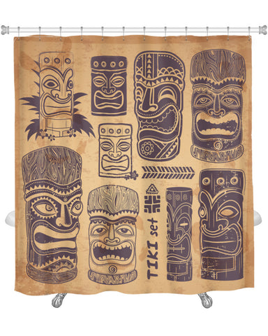 Shower Curtain, Vintage Aloha Tiki
