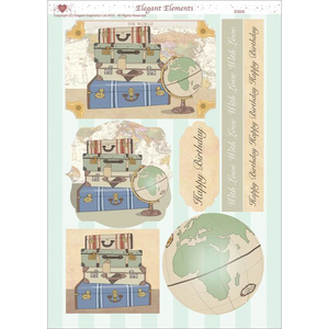 "3D Die-Cut Decoupage Sheet 8.3""X11.69""-Men's Travel"