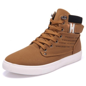 Mens Casual Daily High Top Ankle Faux Leather Boots