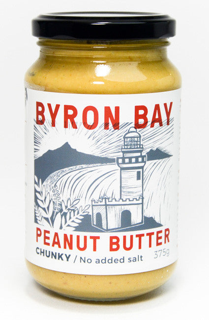 byron bay peanuy butter chunky no added salt