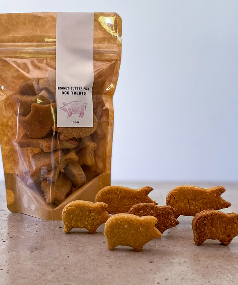 Peanut Butter Pigs Dog Treats