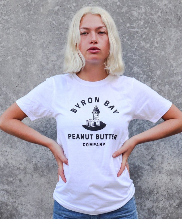 Byron Bay Peanut Butter T-Shirt - White