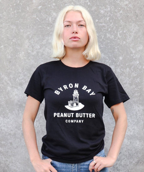 Byron Bay Peanut Butter T-Shirt - Black