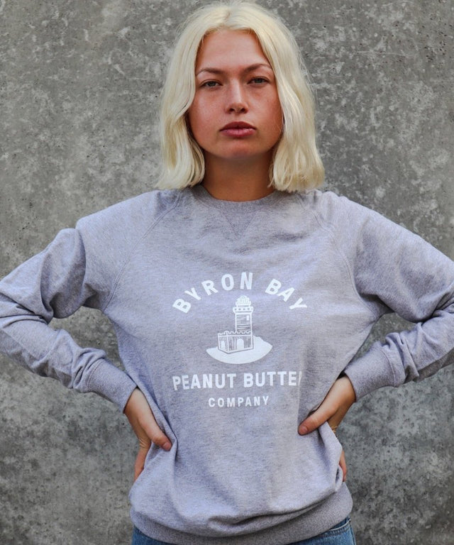 Byron Bay Peanut Butter Sweatshirt Jumper - Grey