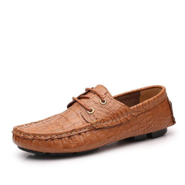 Big Size High Quality Leather Comfy Loafers Driving Shoes