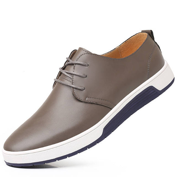 Fashion Men Genuine Leather Oxford Casual Shoes