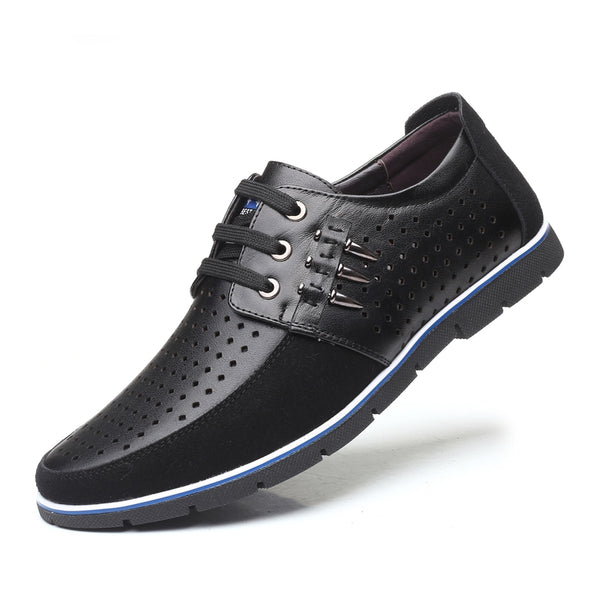 Men's Fashion Leather Oxford Breathable Casual Shoes