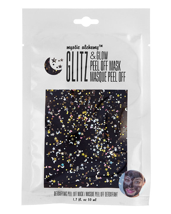 Black GLITZ & GLOW Peel off Glitter Mask