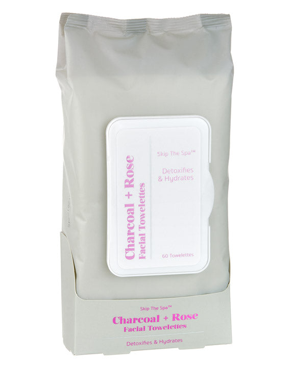 CHARCOAL & ROSE WIPES 60CT