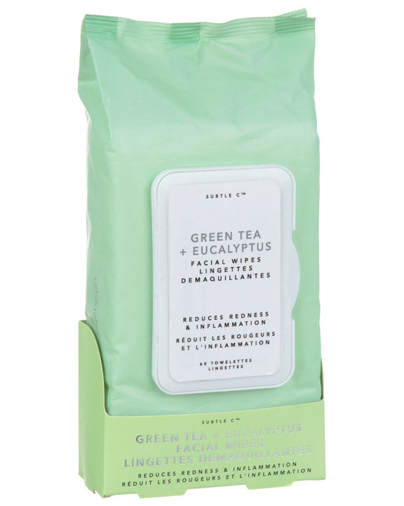 Green Tea + Eucalyptus Facial Wipes