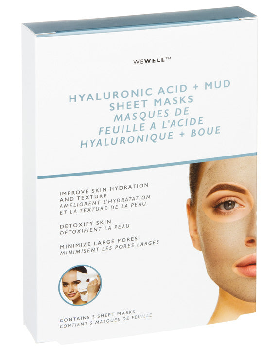 HYALURONIC ACID MUD SHEET MASK BOX