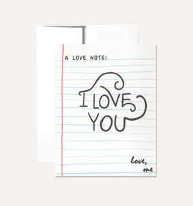 A Love Note - Greeting Card