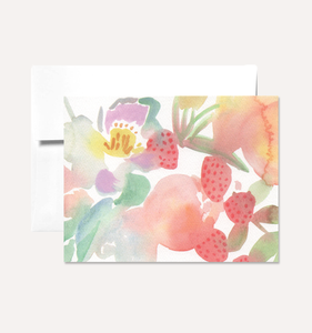 Strawberry Floral - Greeting Card
