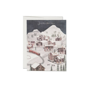 Winter Village - Greeting Card