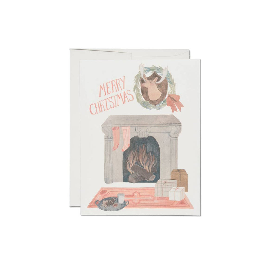 Christmas Fireplace - Greeting Card