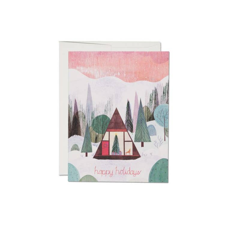 Modern Cabin - Greeting Card