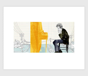 Bob Dylan in America by Tae Won Yu - Archival Print