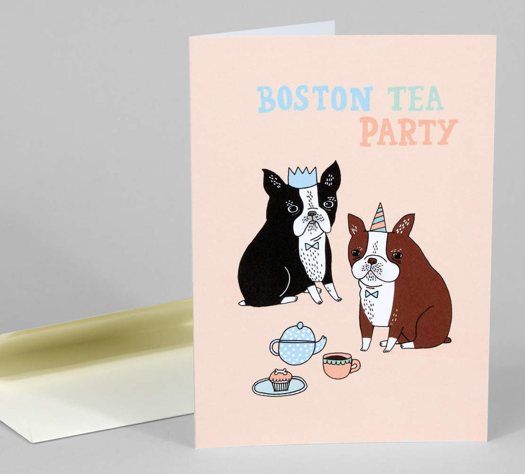 Boston Tea Party by Gemma Correll - Greeting Card