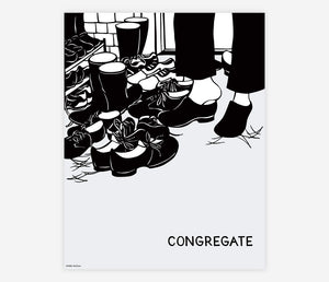 Congregate by Nikki McClure - Poster Print
