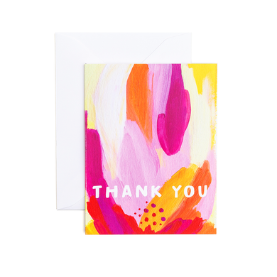 Gina Thank You - Greeting Card by Evergreen Summer