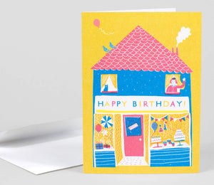 Happy Birthday Shop by Louise Lockhart - Greeting Card