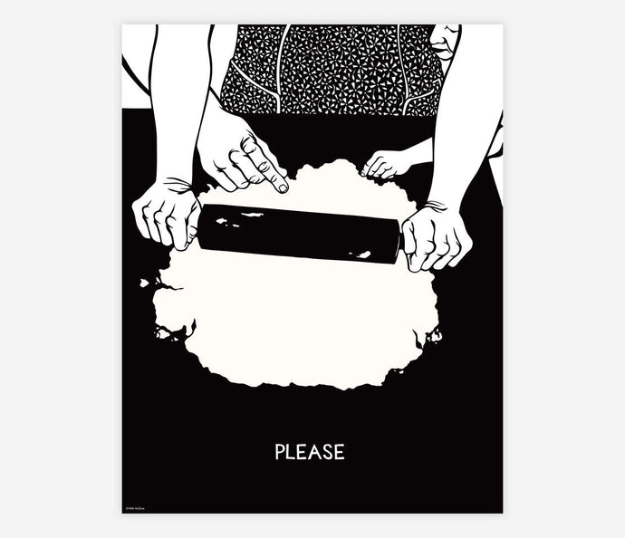 Please by Nikki McClure - Poster Print