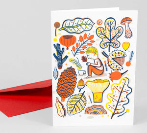 Recueillir by Laurent Moreau - Greeting Card