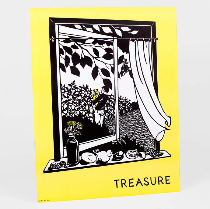 Treasure by Nikki McClure - Poster Print