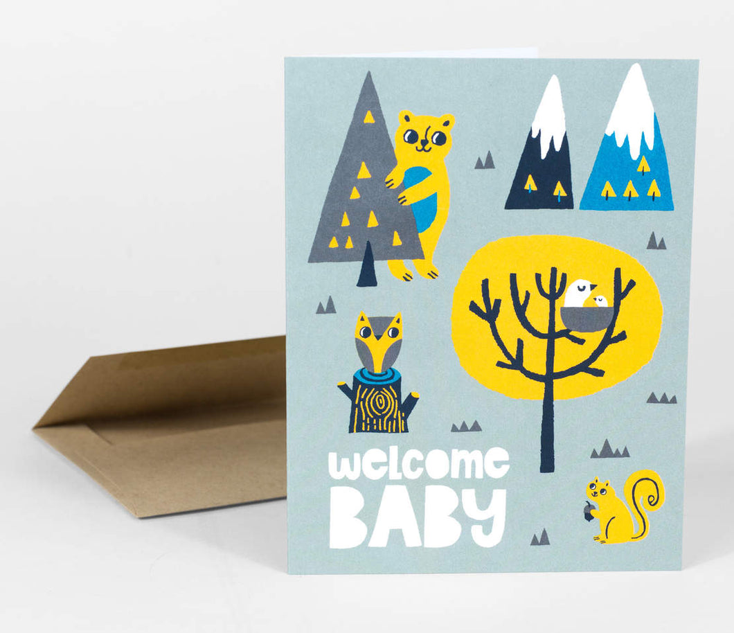 Welcome Baby by Allison Cole - Greeting Card