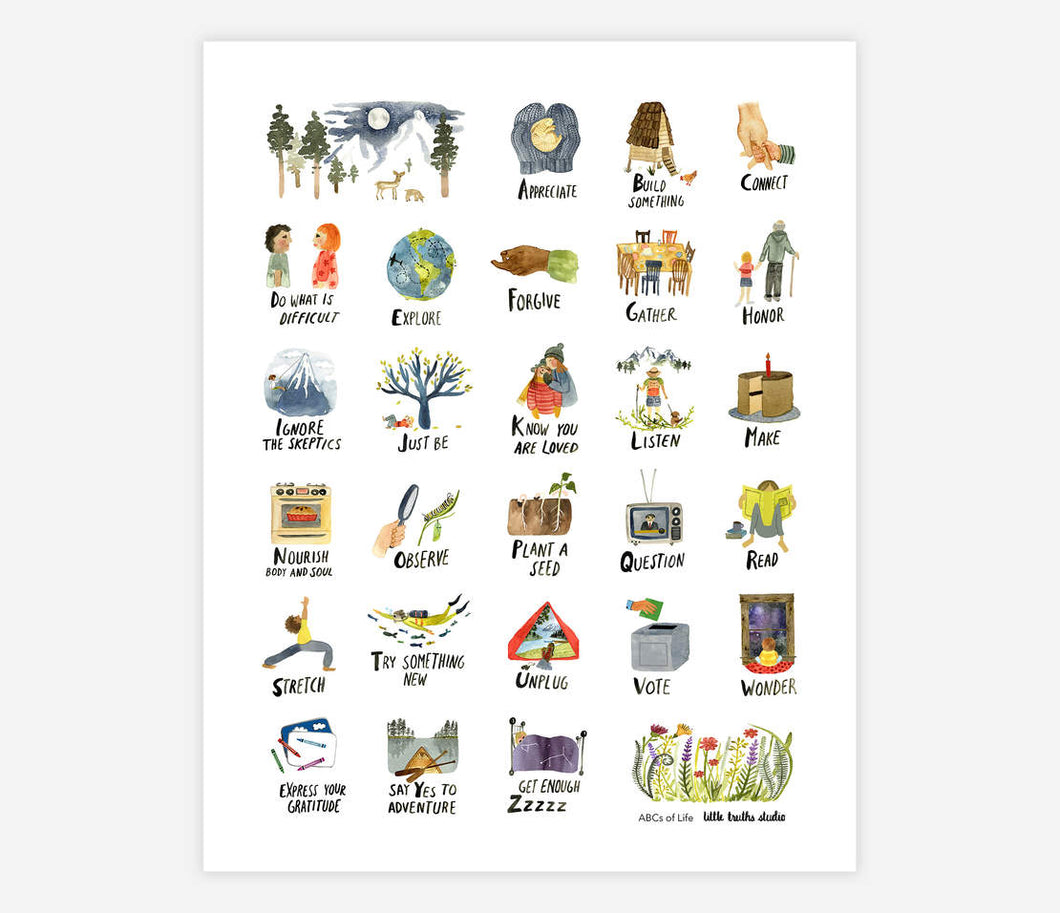 ABCs of Life - Archival Print