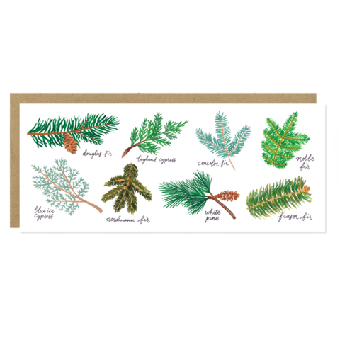 Christmas Tree Varieties - Greeting Card by Forage Paper Co.