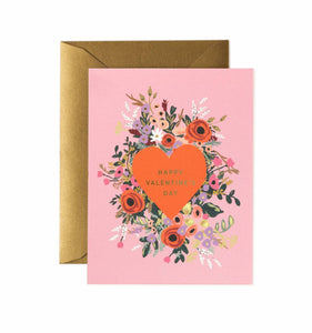 Blooming Heart Valentine - Greeting Card