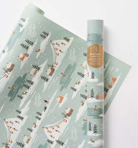 Holiday Snow Scene - Holiday Wrapping Sheets - Rifle Paper Co.