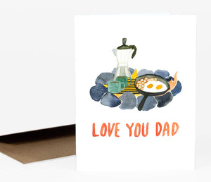 Love You Dad - Greeting Card by Little Truths Studio