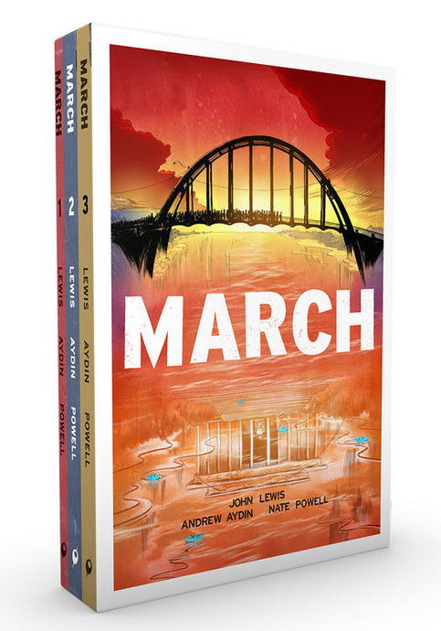 March (Trilogy Slipcase) by John Lewis, Andrew Aydin, & Nate Powell