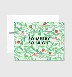 Merry & Bright - Greeting Card