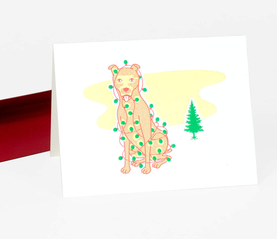Merry Christmas Dog - Greeting Card