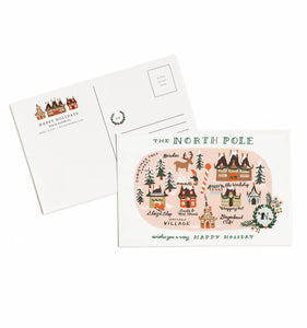 The North Pole Map - Postcard Set - Rifle Paper Co.