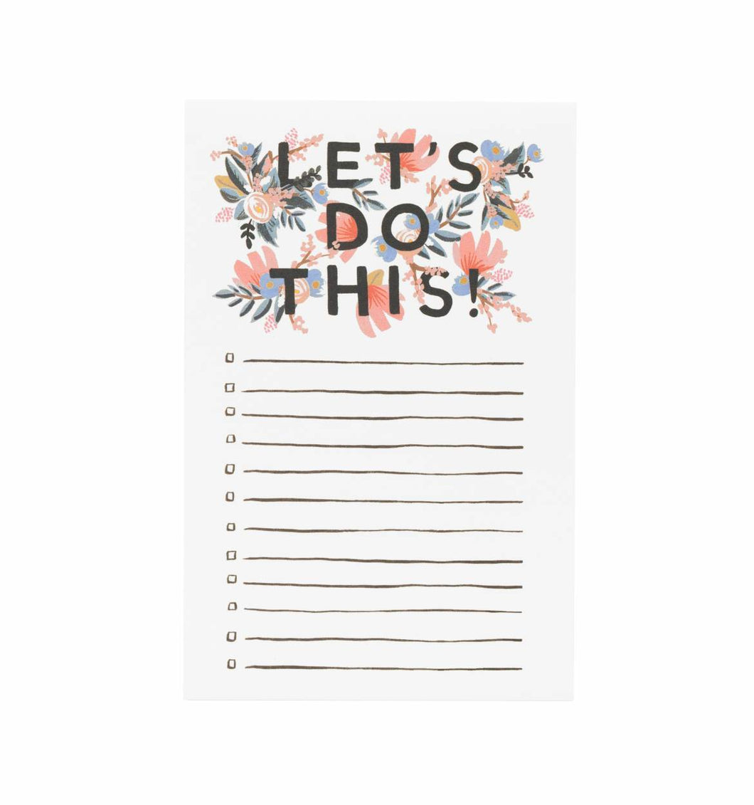 Let's Do This - Notepad