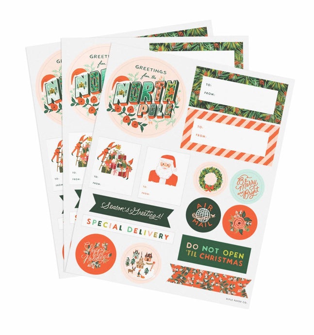 Season's Greetings Stickers & Gift Labels - Rifle Paper Co.