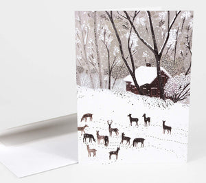 Winter by Becca Stadtlander - Greeting Card